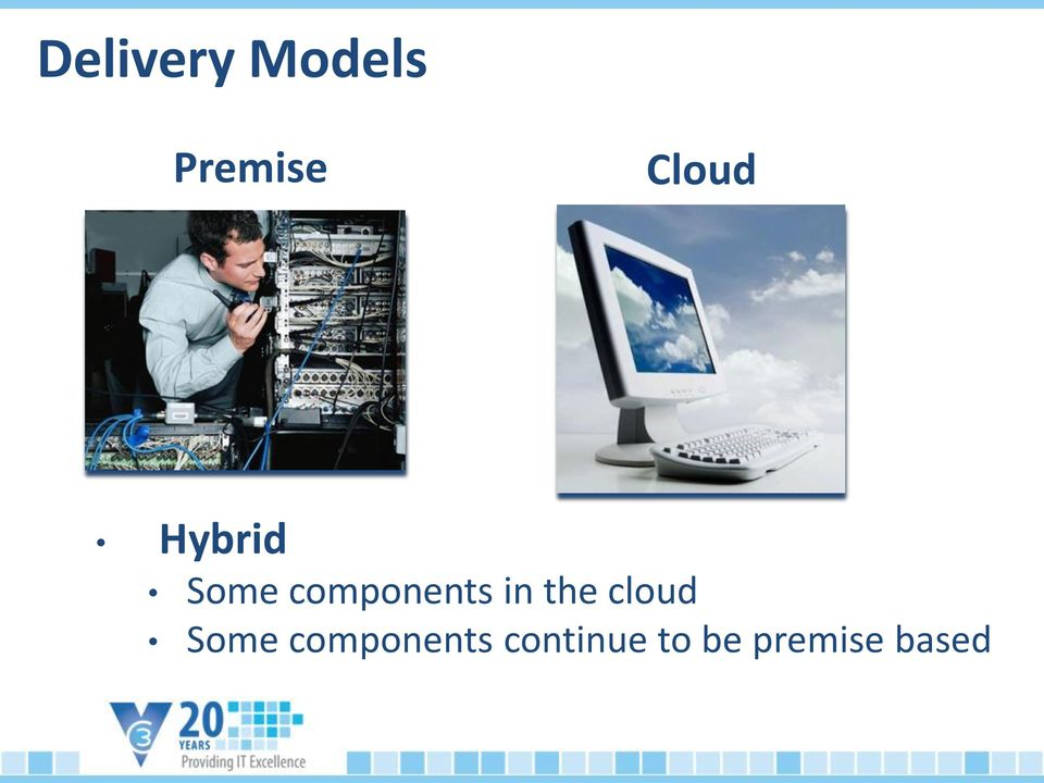 components in the cloud