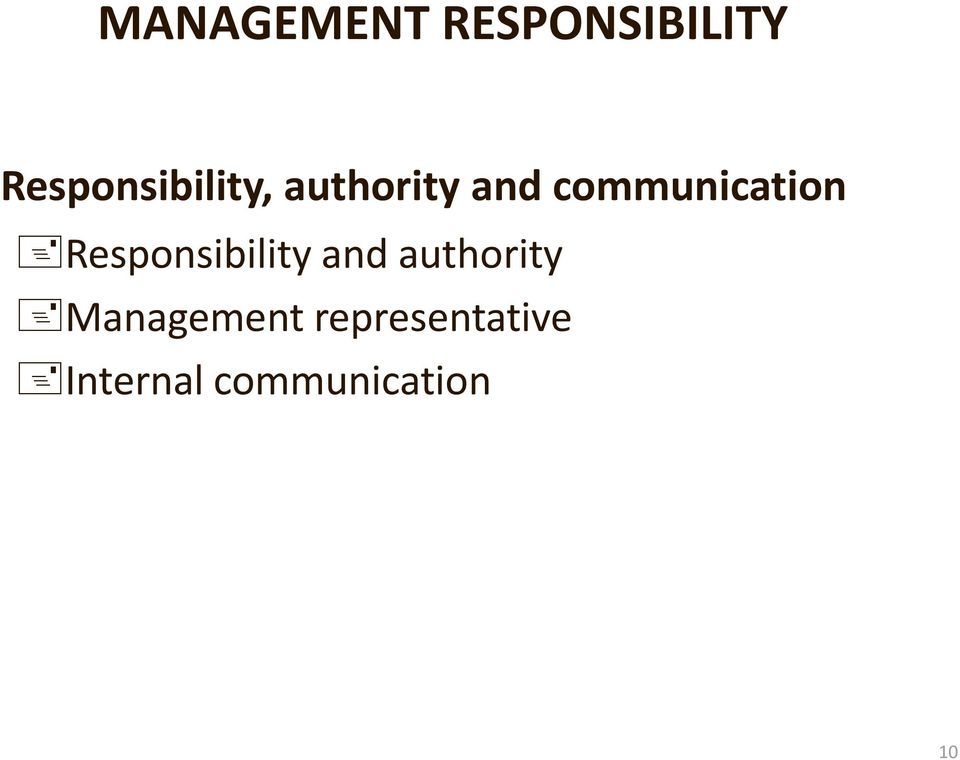 communication Responsibility and