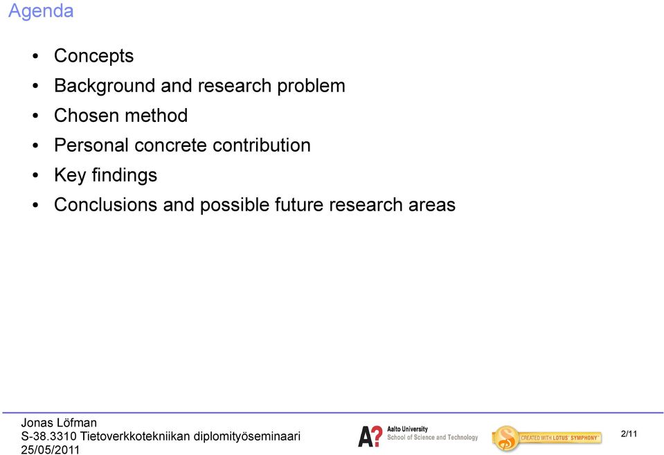 contribution Key findings Conclusions