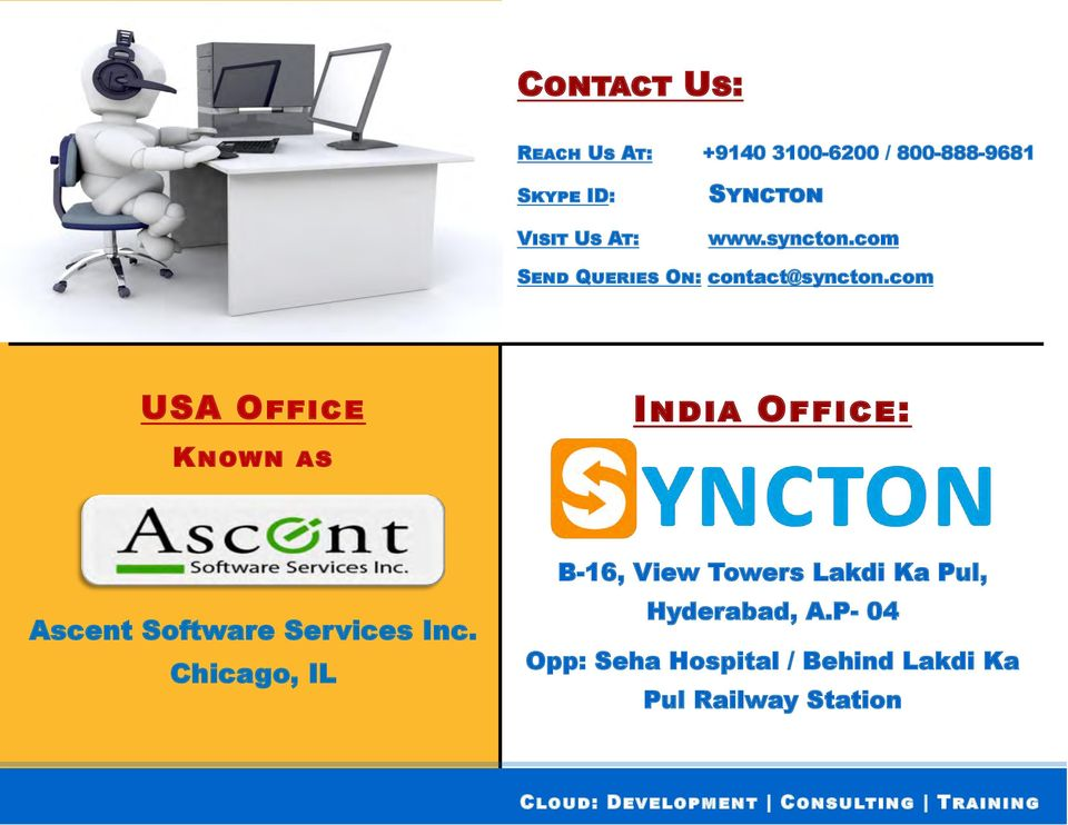 com USA Office Known as India Office: Ascent Software Services Inc.