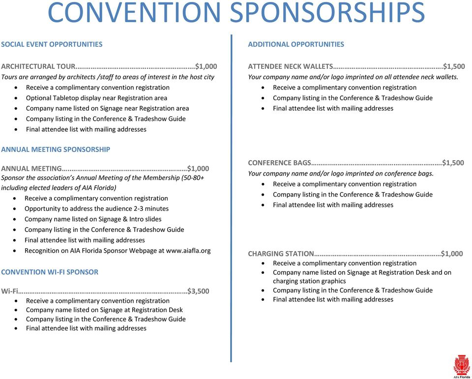 attendee list with mailing addresses ANNUAL MEETING SPONSORSHIP ANNUAL MEETING.