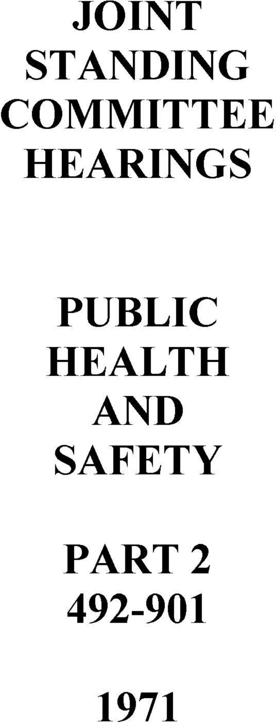 PUBLIC HEALTH AND