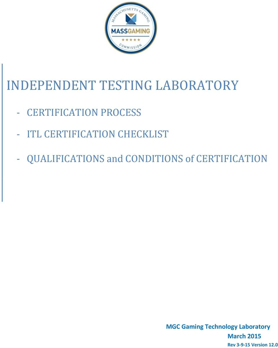 QUALIFICATIONS and CONDITIONS of CERTIFICATION
