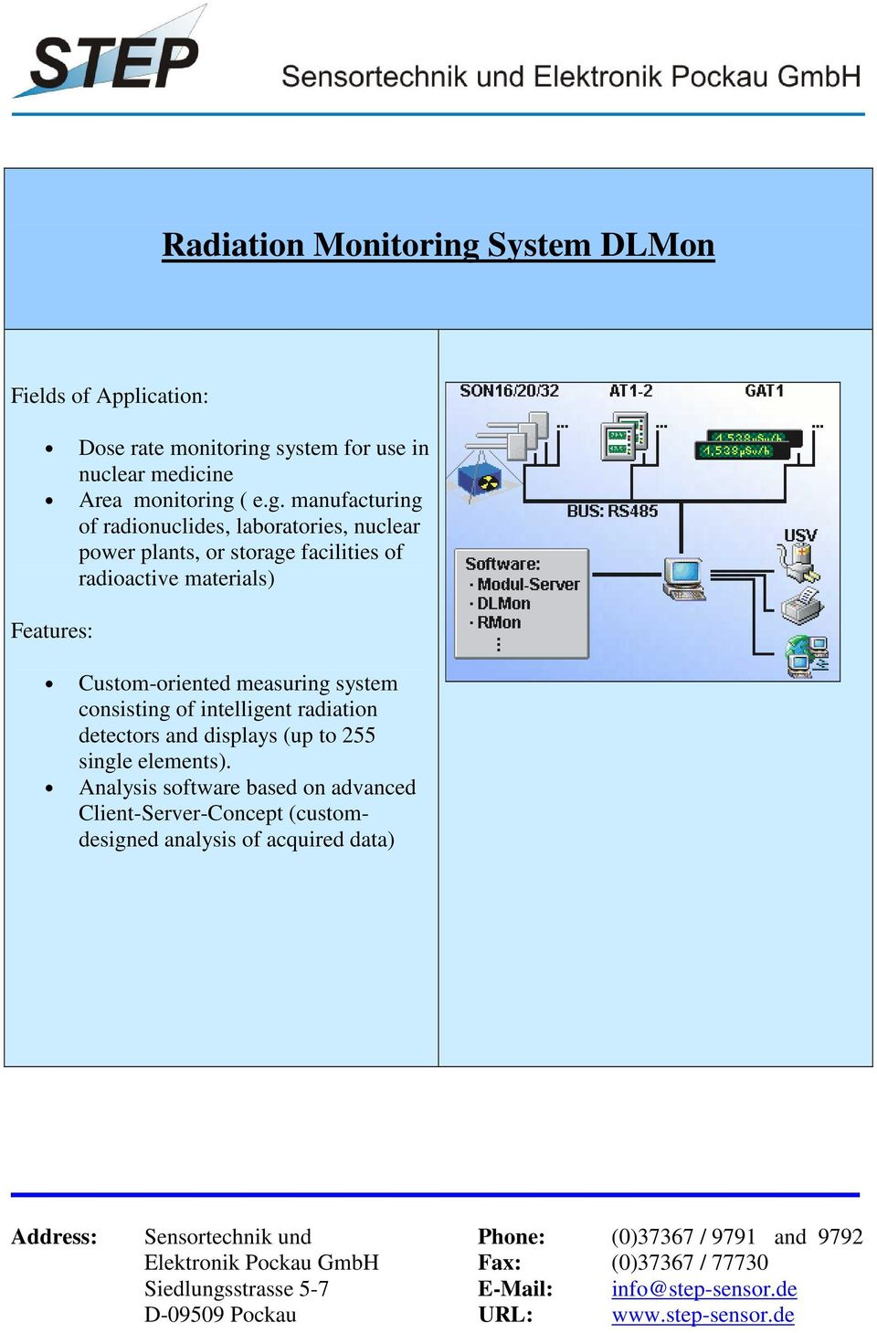 system for use in nuclear medicine Area monitoring