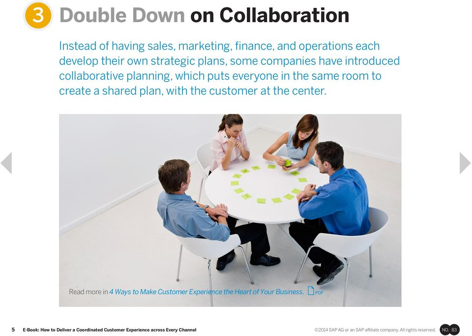 same room to create a shared plan, with the customer at the center.