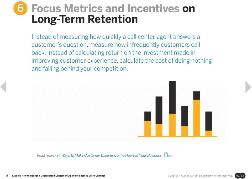 Instead of calculating return on the investment made in improving customer experience, calculate the cost of doing nothing