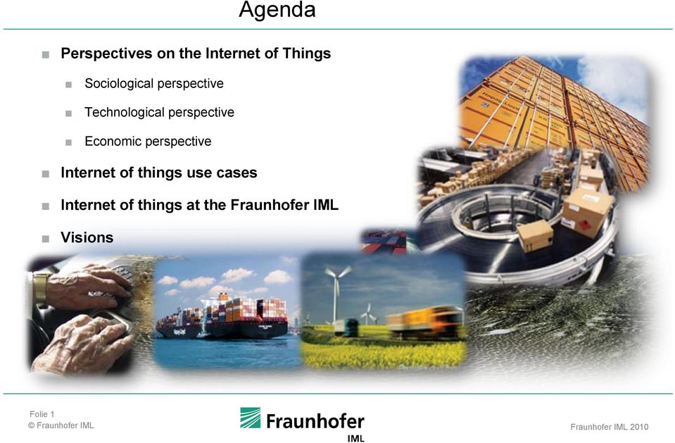 Economic perspective Internet of things use cases