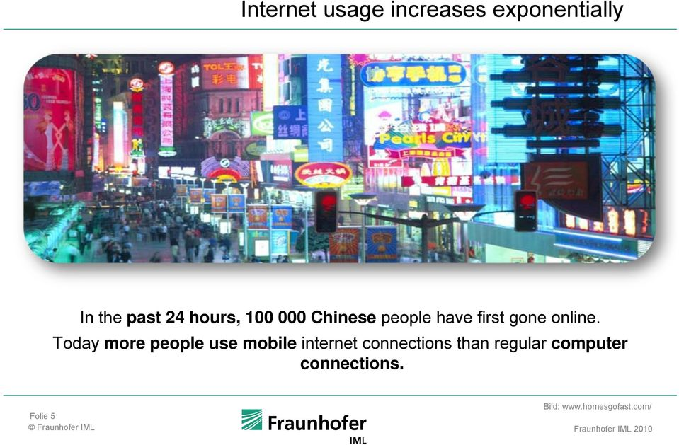 Today more people use mobile internet connections than