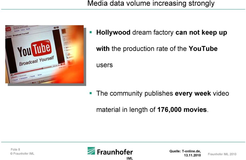 publishes every week video material in length of 176,000 movies.