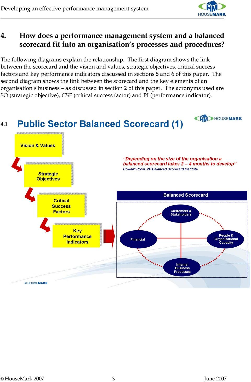 paper. The second diagram shows the link between the scorecard and the key elements of an organisation s business as discussed in section 2 of this paper.