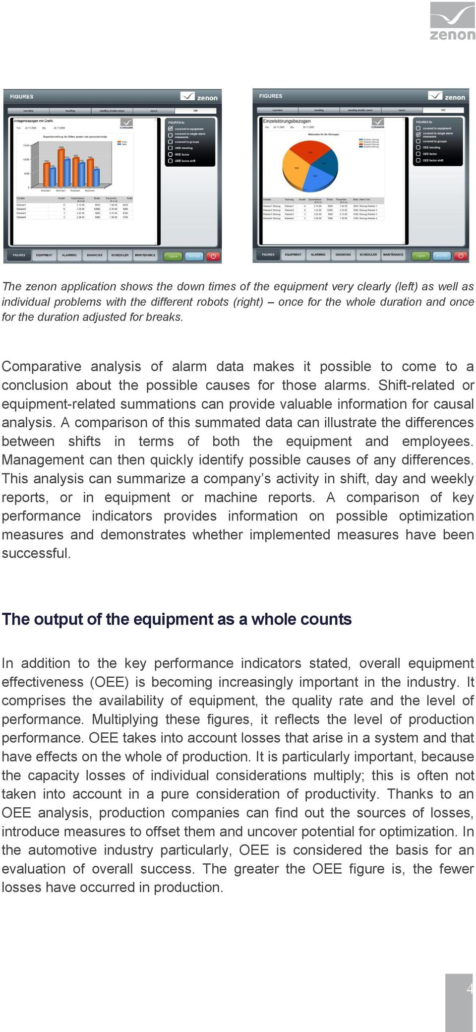 Shift-related or equipment-related summations can provide valuable information for causal analysis.