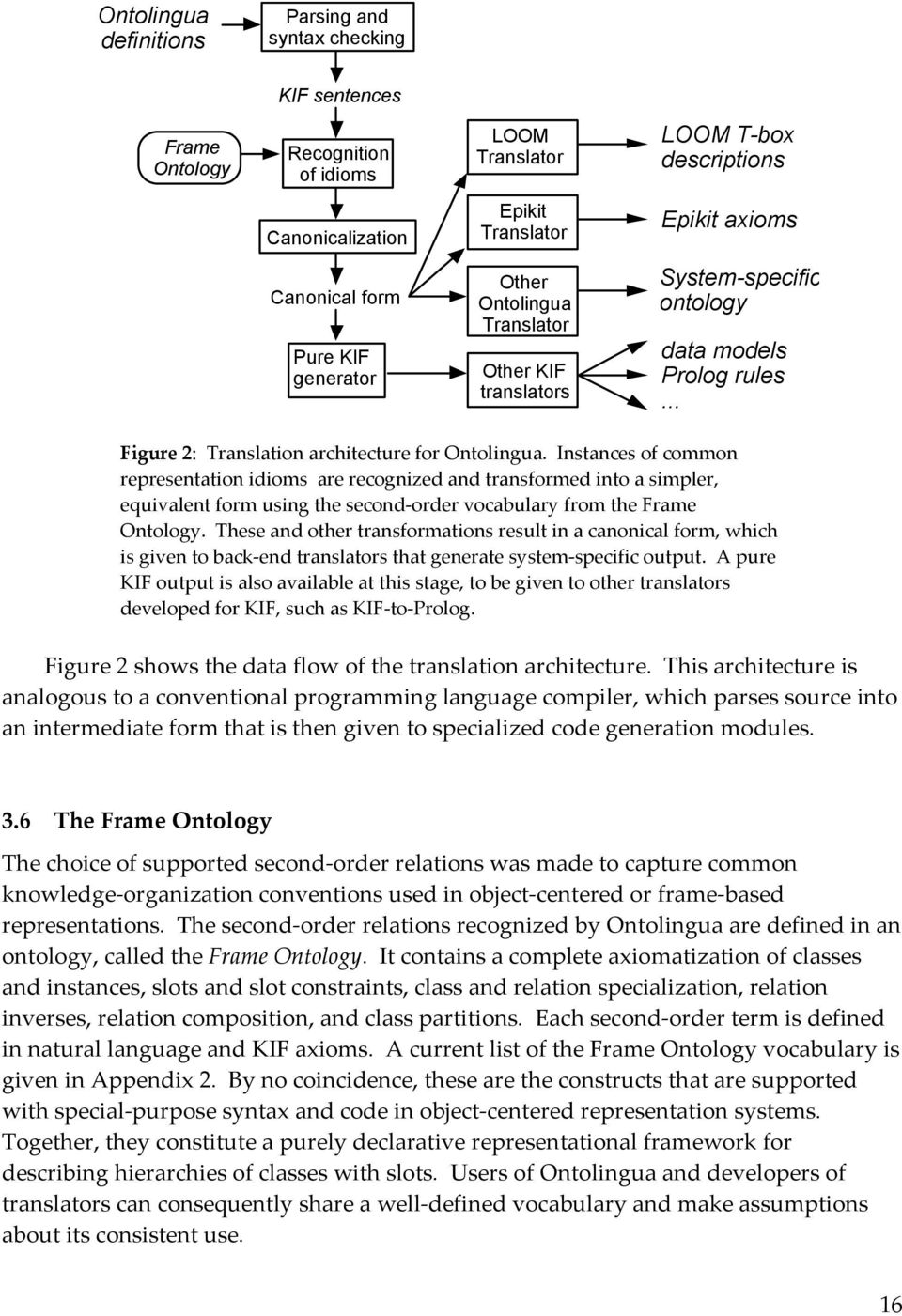 Instances of common representation idioms are recognized and transformed into a simpler, equivalent form using the second-order vocabulary from the Frame Ontology.