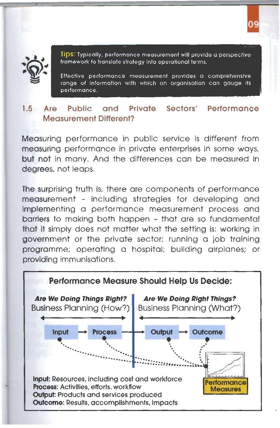 5 Are Public and Private Sectors' Performance Measurement Different? easuring performance in public service is different from measuring performance in private enterprises in some ways.