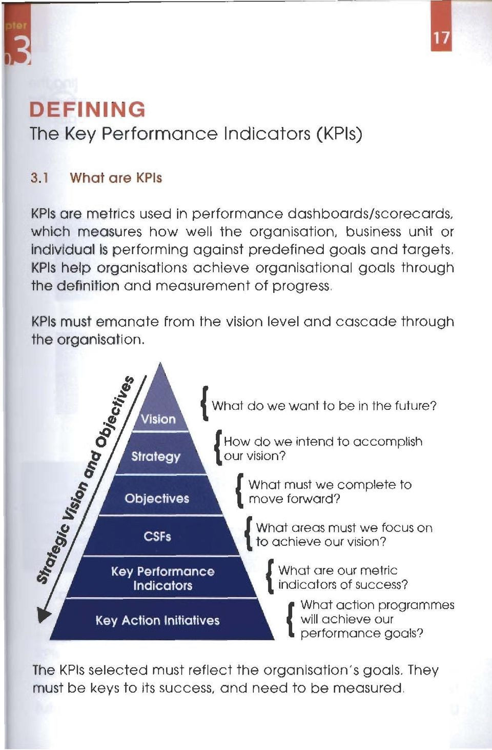 Whcrt areas must we focus on to achieve our vision? Key Performance Indicators What are our metric indicators of success?