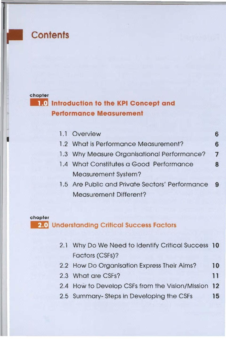 5 Are Public and Prhrote Sectors' Performance 9 Measurement Dlffemt? 2.