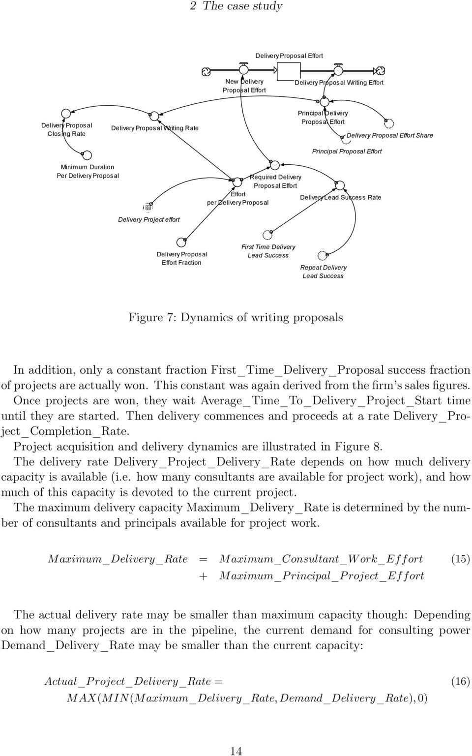 effort Delivery Proposal Effort Fraction First Time Delivery Lead Success Repeat Delivery Lead Success Figure 7: Dynamics of writing proposals In addition, only a constant fraction