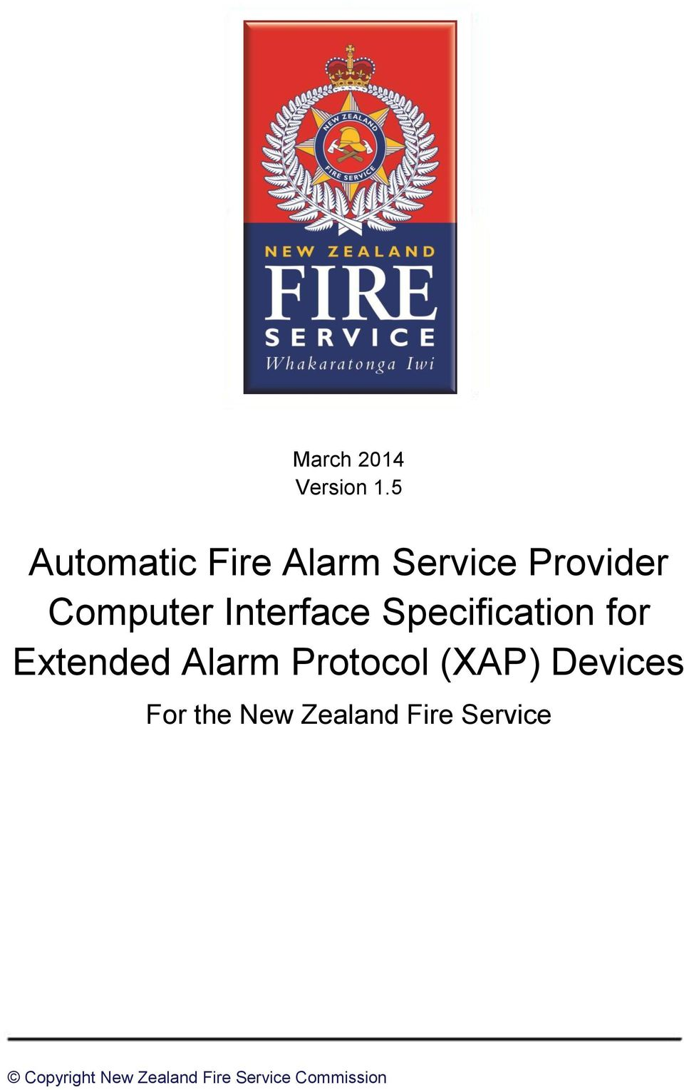 Interface Specification for Extended Alarm Protocol