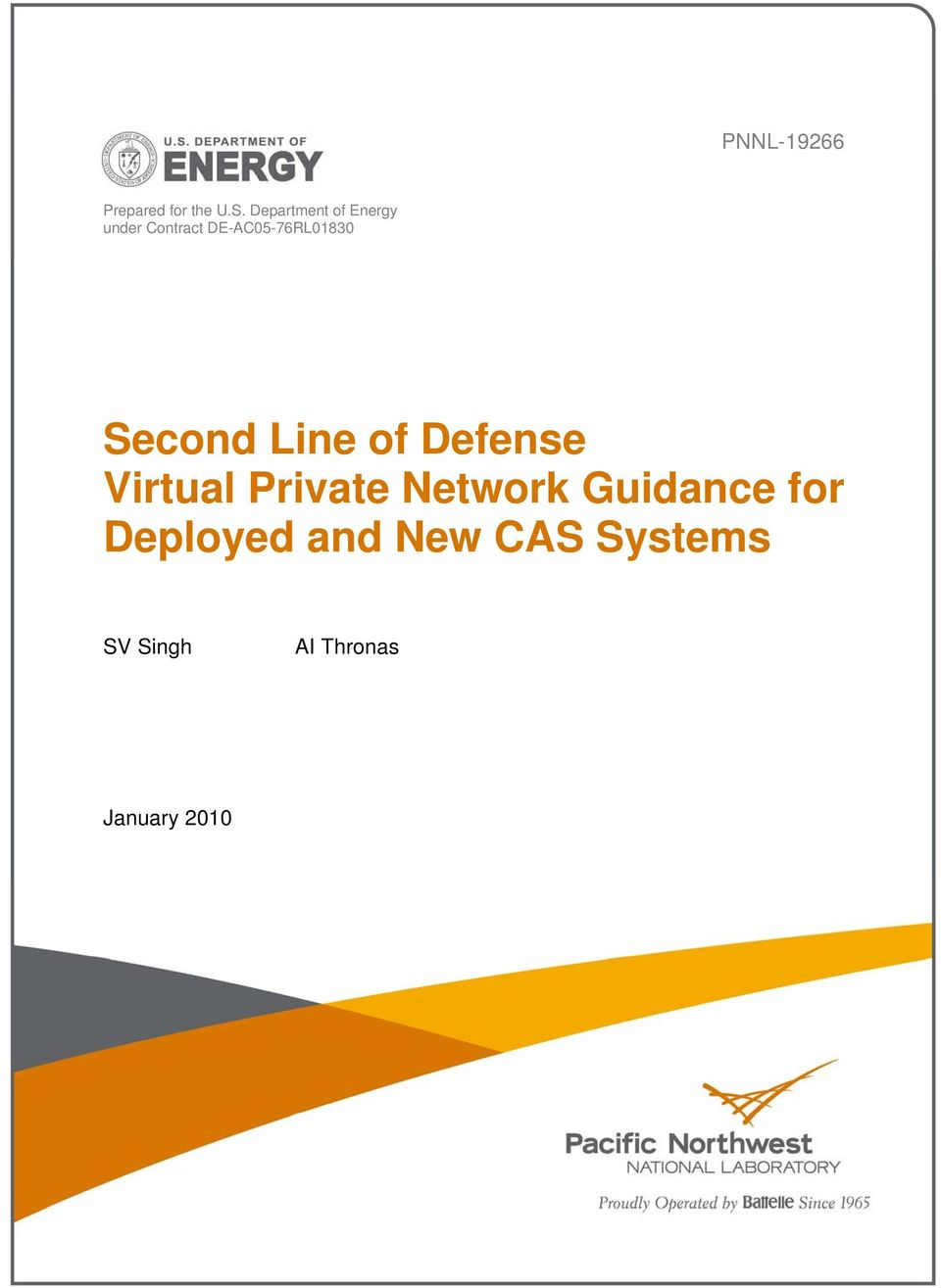 DE-AC05-76RL01830 Second Line of Defense Virtual