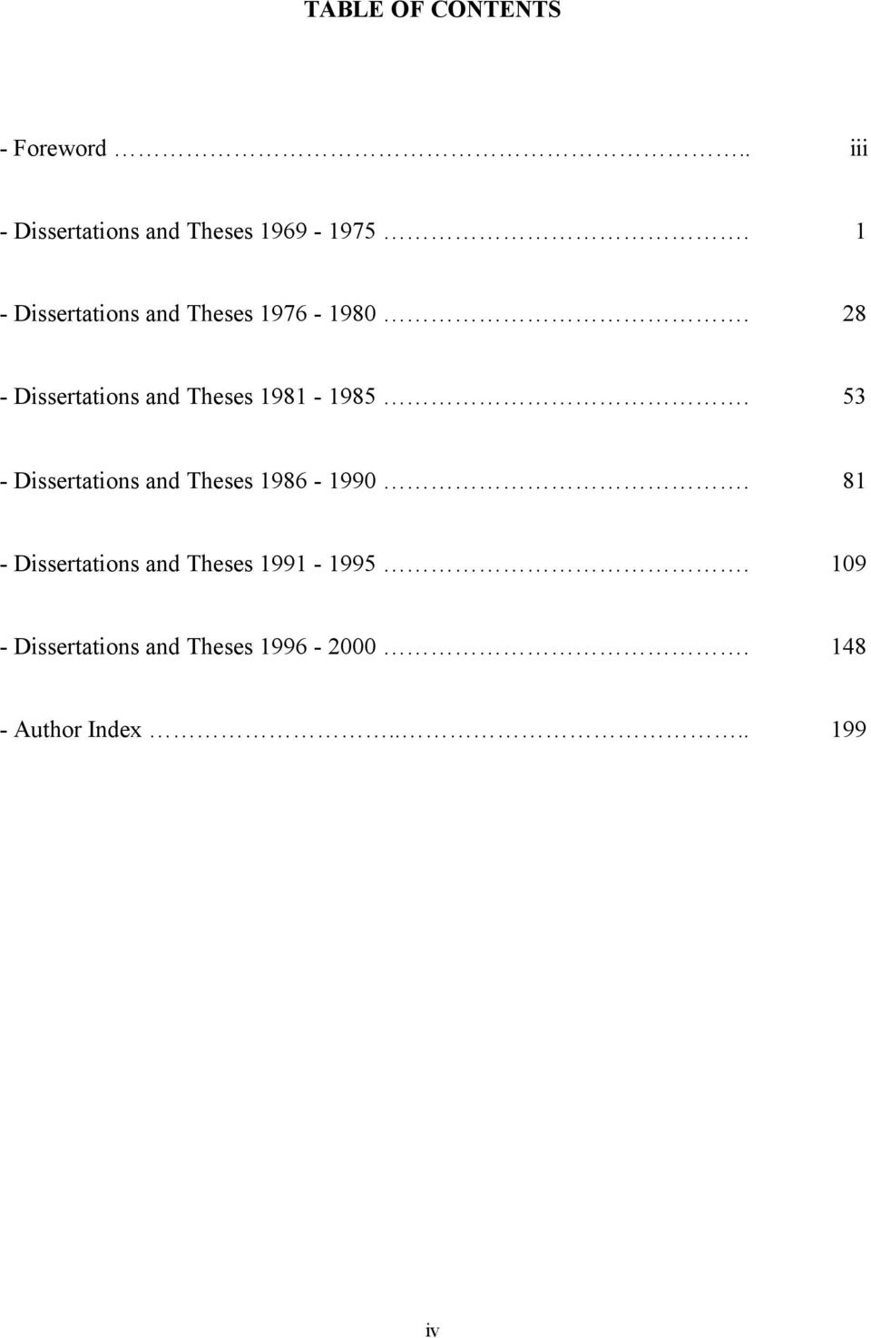 28 - Dissertations and Theses 1981-1985.