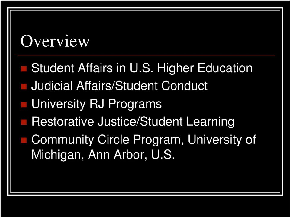 Higher Education Judicial Affairs/Student Conduct