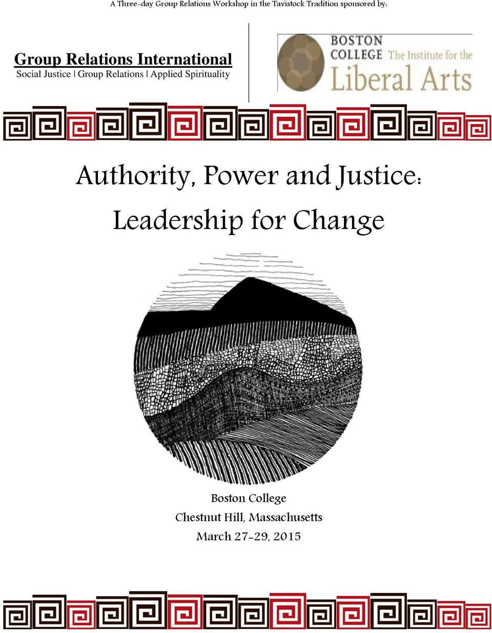 Relations Applied Spirituality Authority, Power and Justice: