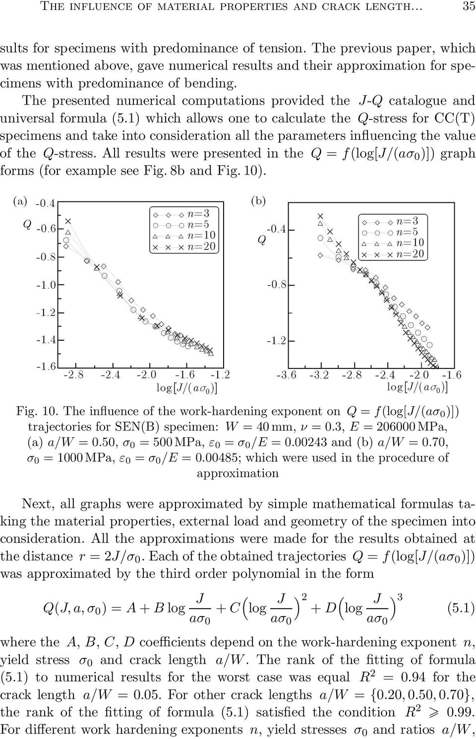 The presented numerical computations provided the J-Q catalogue and universal formula(5.