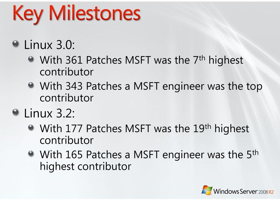 343 Patches a MSFT engineer was the top contributor 2: With 177