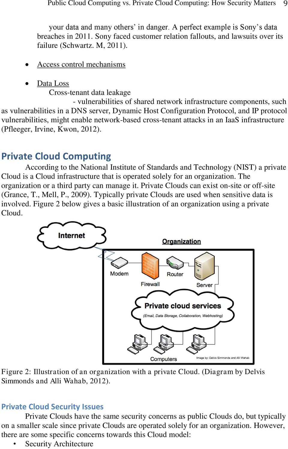 Access control mechanisms Data Loss Cross-tenant data leakage - vulnerabilities of shared network infrastructure components, such as vulnerabilities in a DNS server, Dynamic Host Configuration