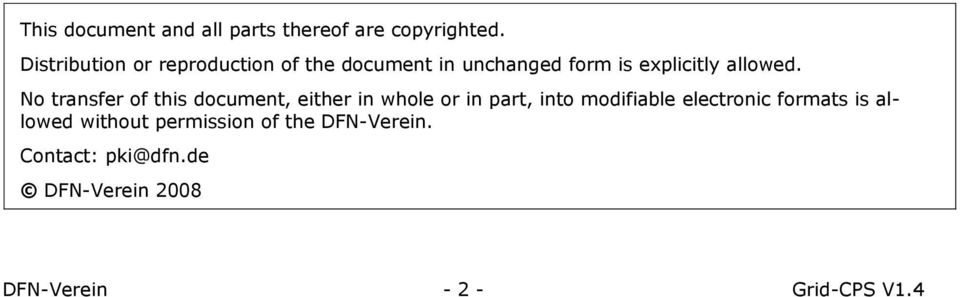 No transfer of this document, either in whole or in part, into modifiable electronic