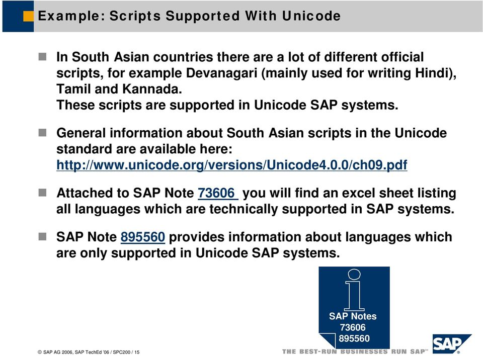 SPC200  Conversion of SAP Systems to Unicode - PDF