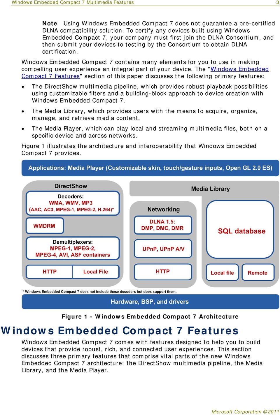 Windows Embedded Compact 7 contains many elements for you to use in making compelling user experience an integral part of your device.