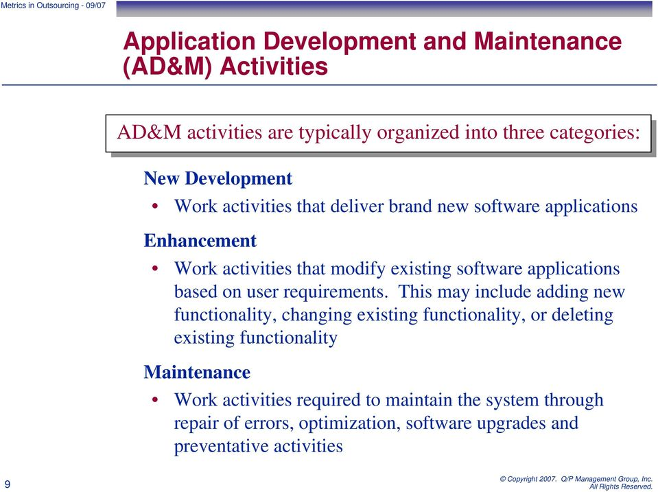 applications based on user requirements.
