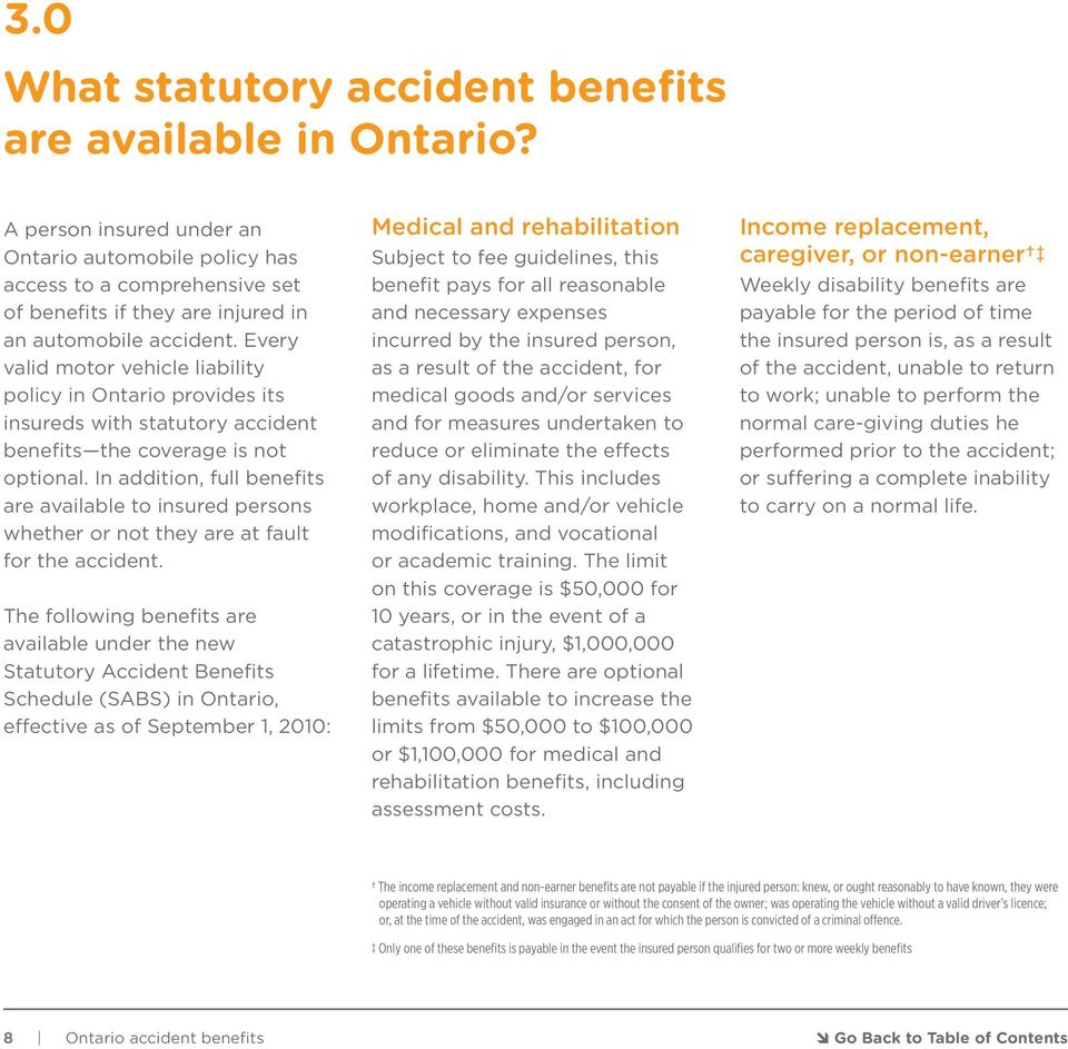 Every valid motor vehicle liability policy in Ontario provides its insureds with statutory accident benefits the coverage is not optional.