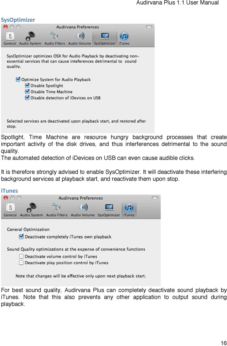 Audirvana Plus 11 User Manual Pdf Itunes 500k Add Funds It Is Therefore Strongly Advised To Enable Sysoptimizer