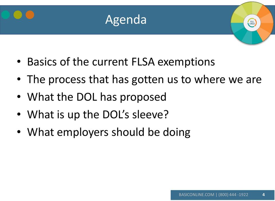 DOL has proposed What is up the DOL s sleeve?