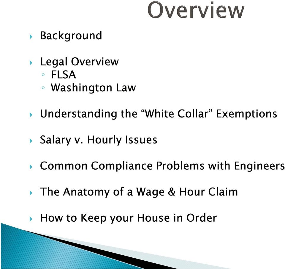 Hourly Issues Common Compliance Problems with