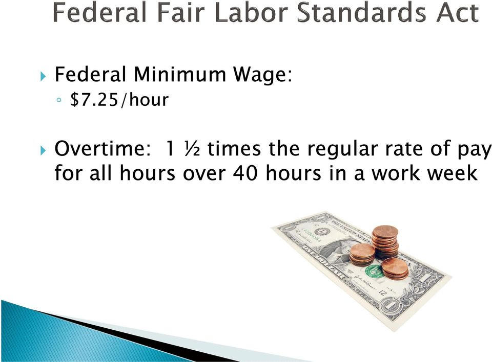 the regular rate of pay for