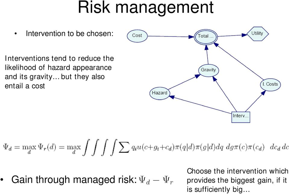 they also entail a cost Gain through managed risk: Choose the