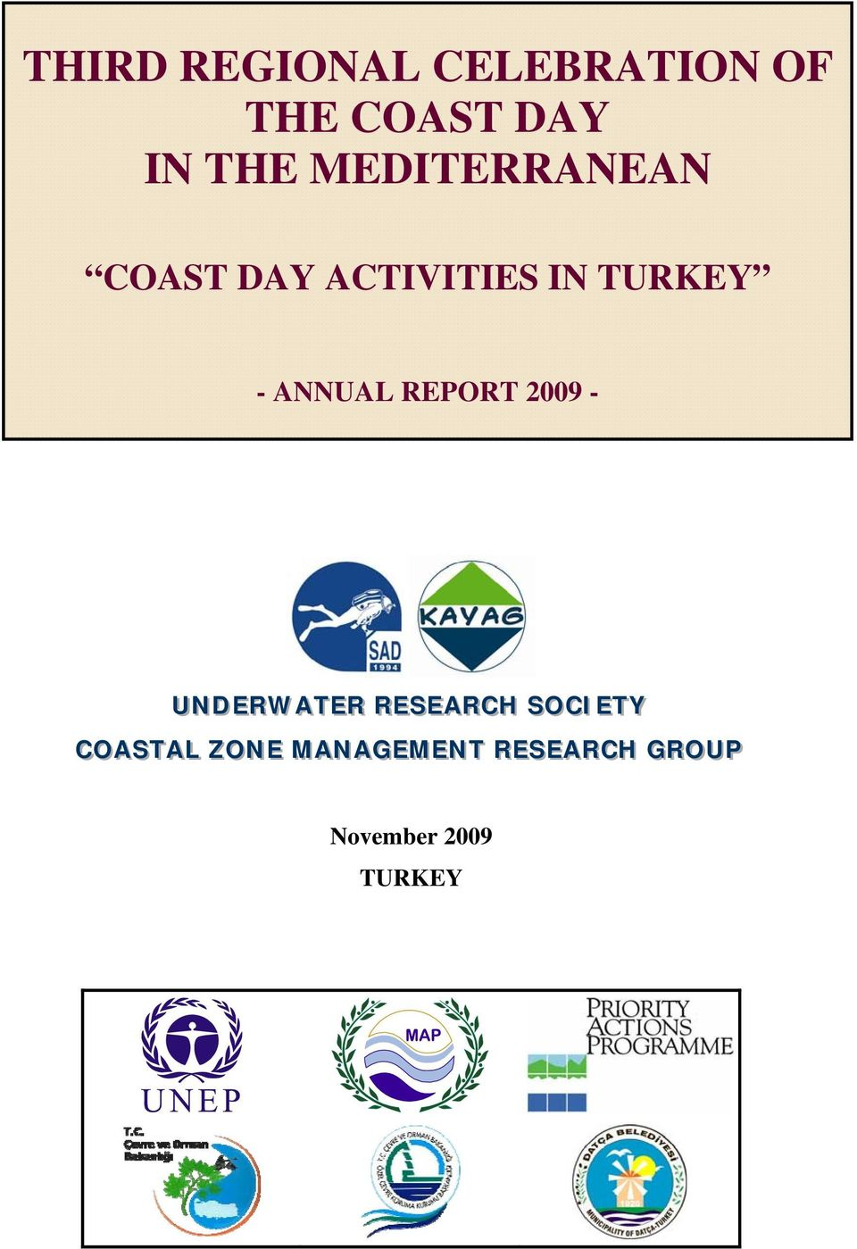 ANNUAL REPORT 2009 - UNDERWATER RESEARCH SOCIIETY