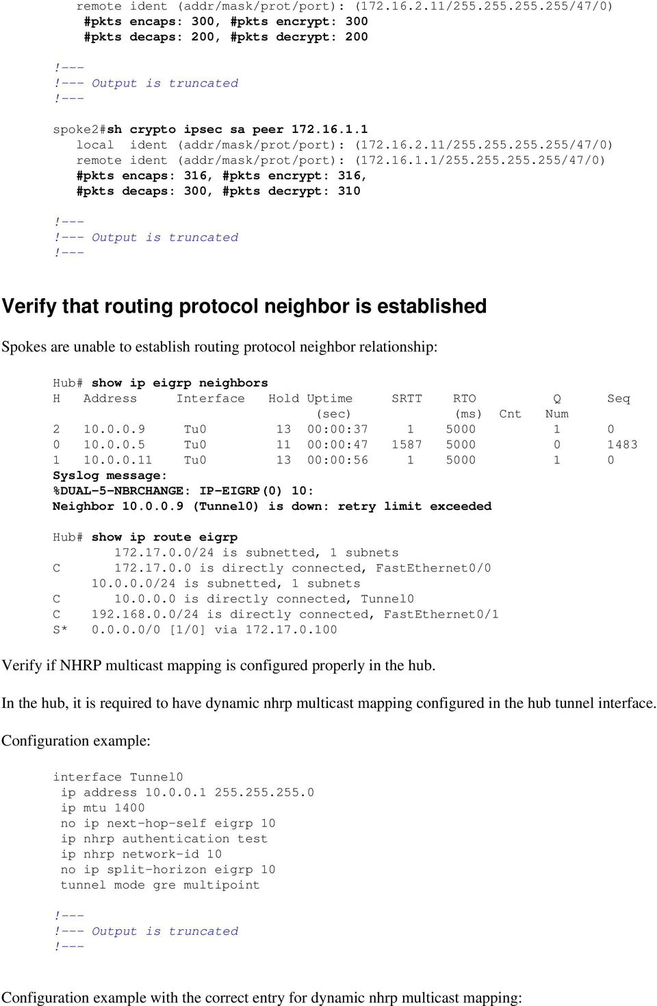 Most Common DMVPN Troubleshooting Solutions - PDF