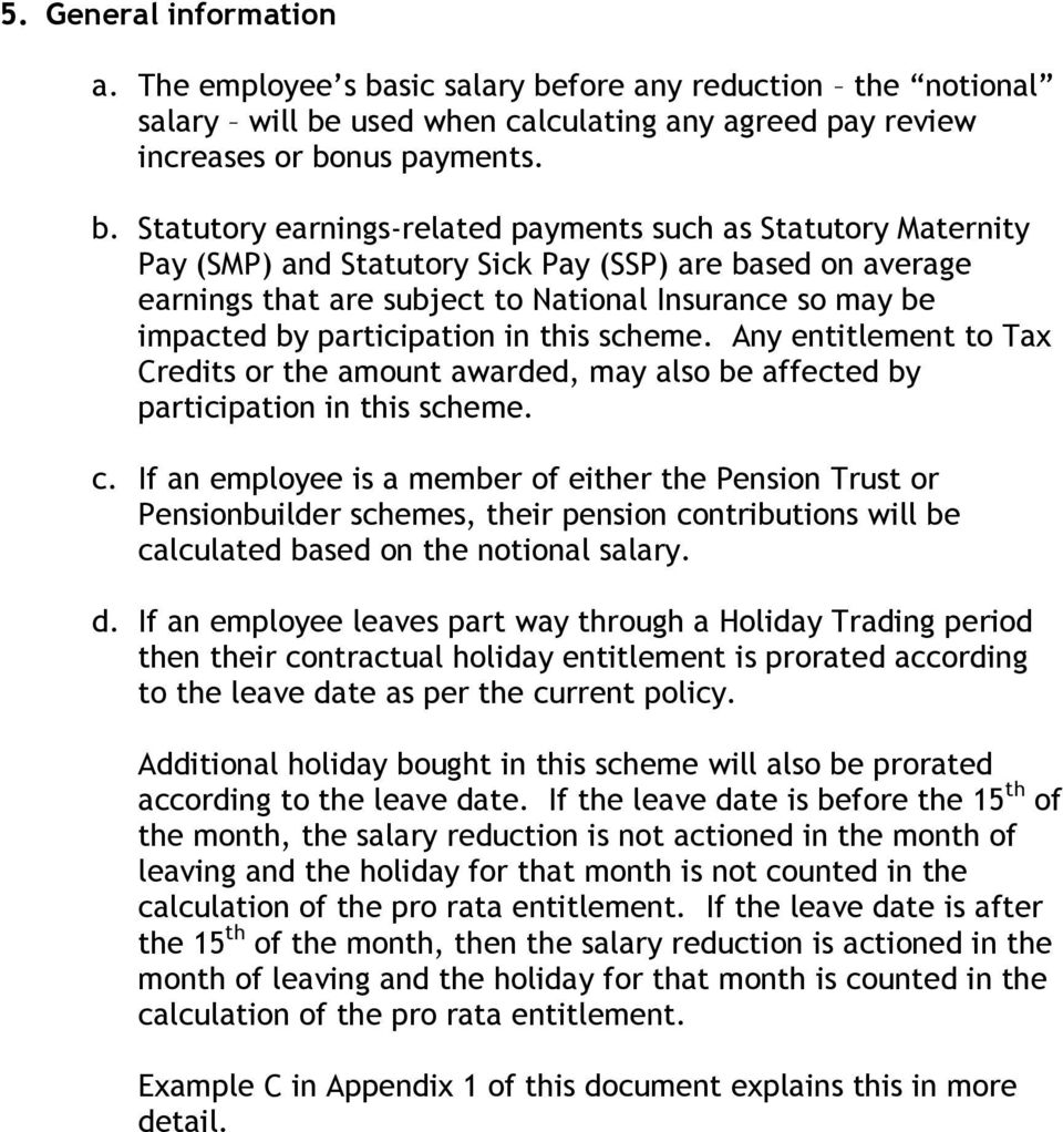 fore any reduction the notional salary will be