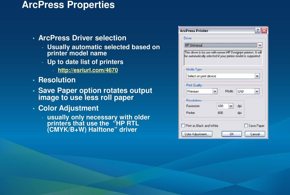 com/4670 Resolution Save Paper option rotates output image to use less roll paper