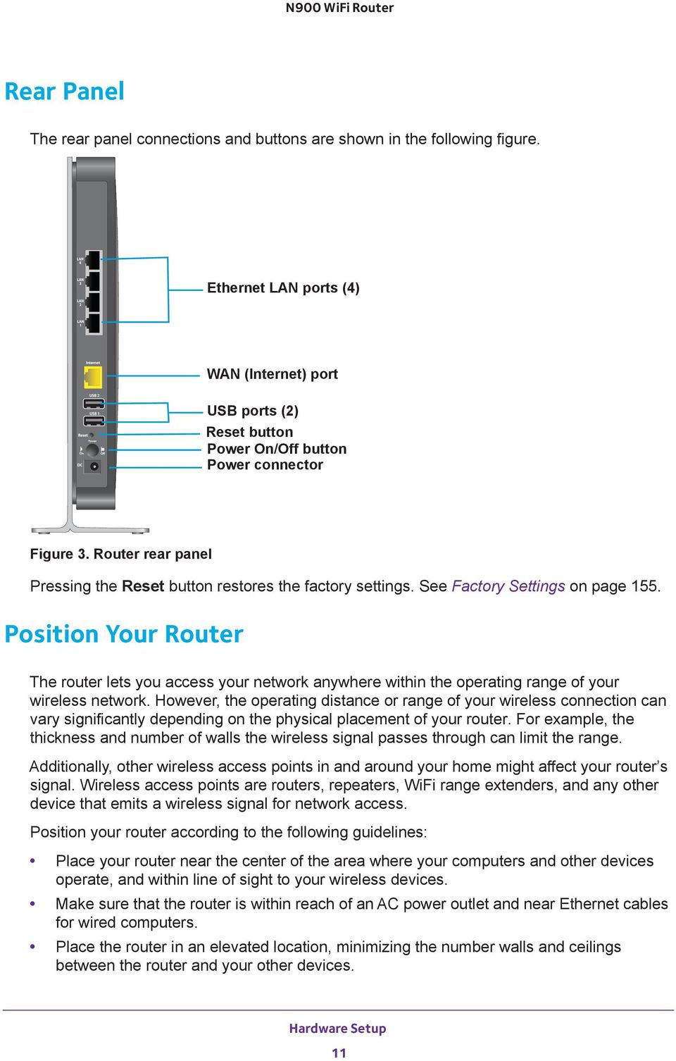 Position Your Router The router lets you access your network anywhere within the operating range of your wireless However, the operating distance or range of your wireless connection can vary