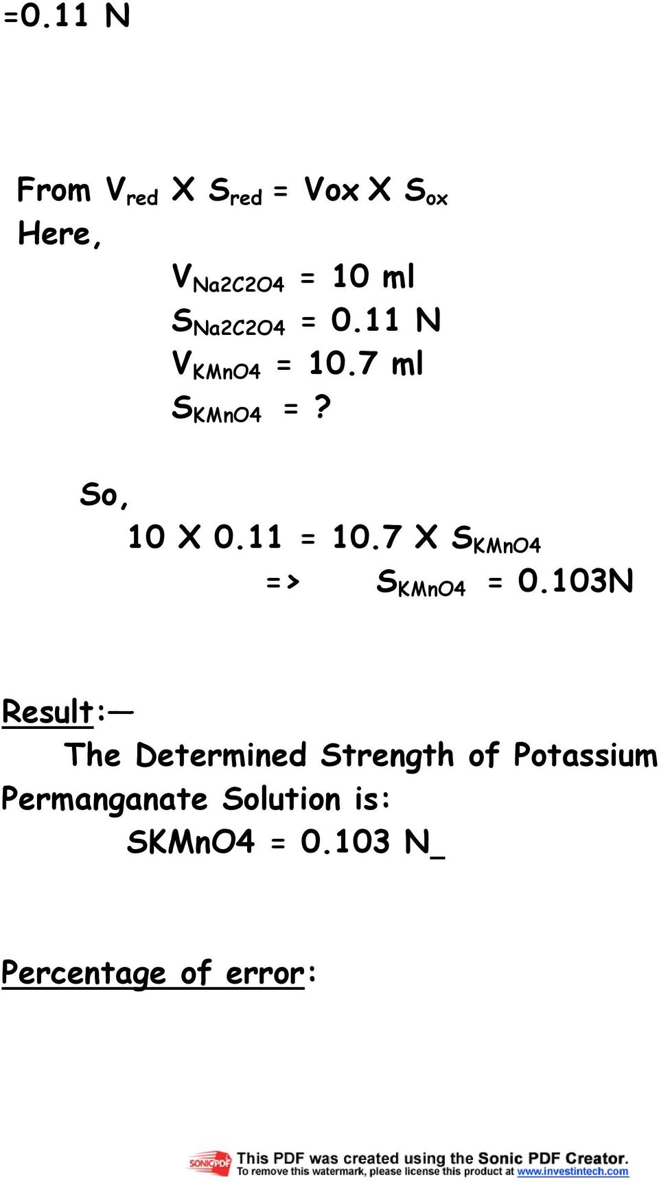 standardization of potassium permanganate essays Abstraction: in this lab a prepared solution of potassium hydroxide will be  standardized the solution we will be standardized by executing multiple.