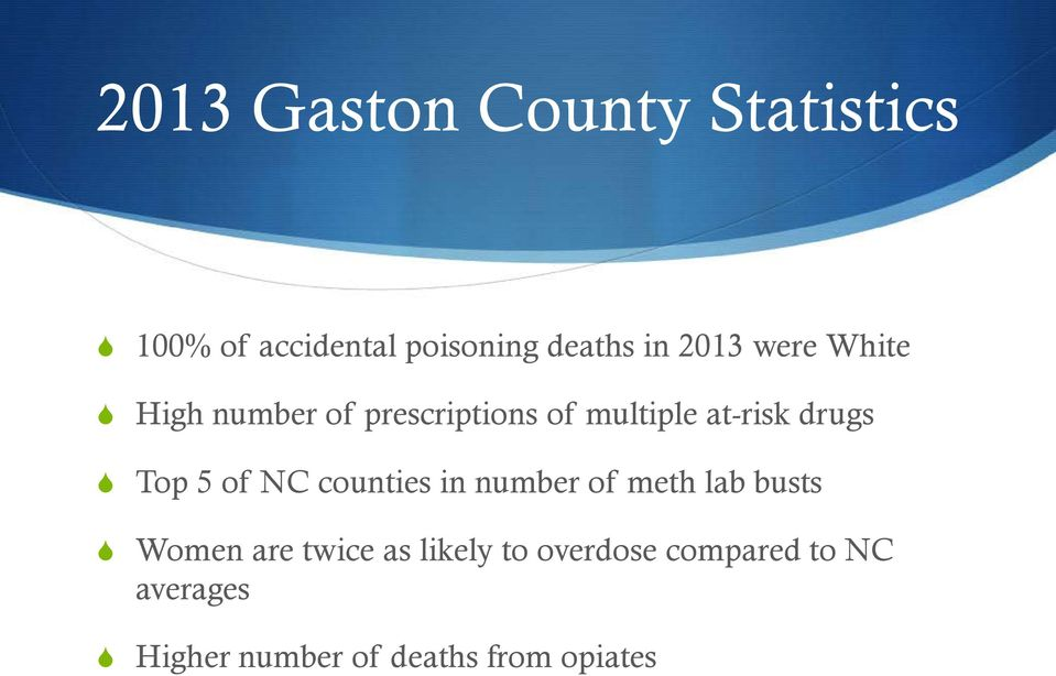 Top 5 of NC counties in number of meth lab busts Women are twice as