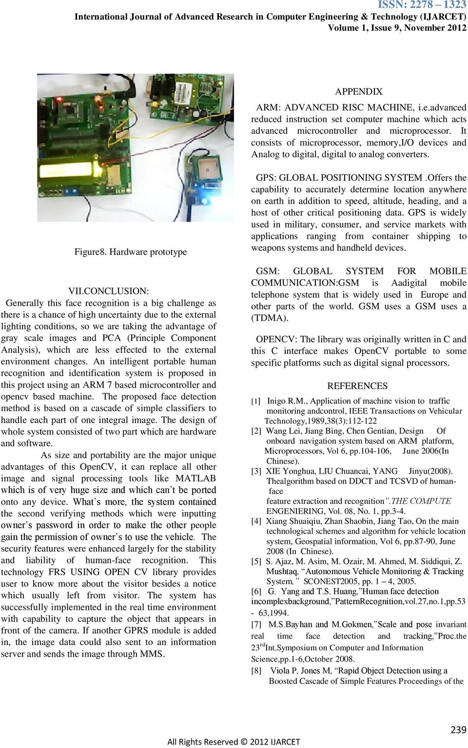 Design Of ARM Based Face Recognition System using Open CV Library - PDF