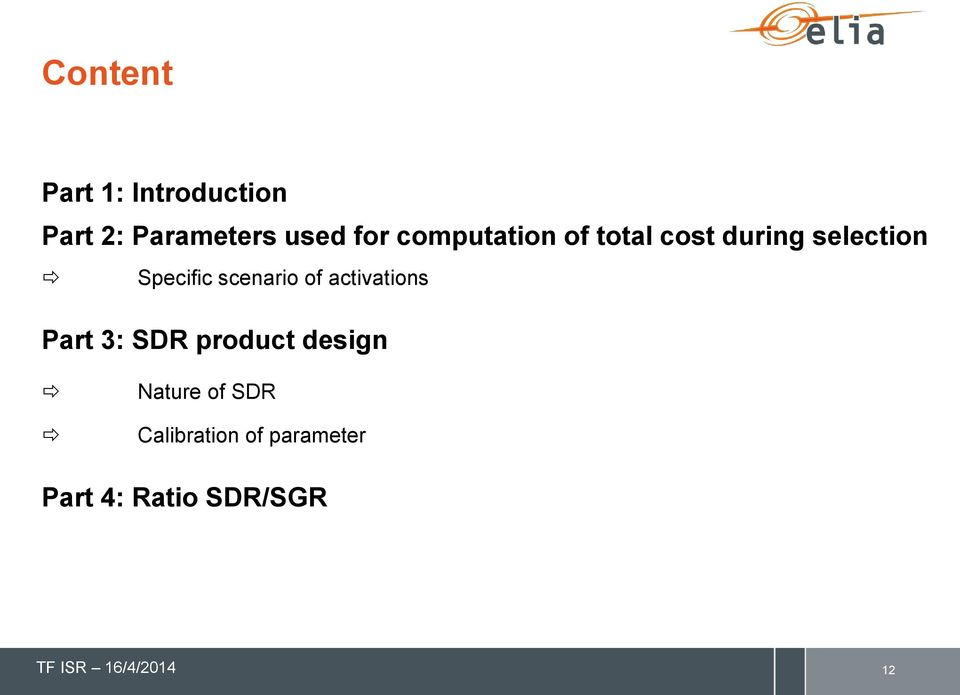 scenario of activations Part 3: SDR product design