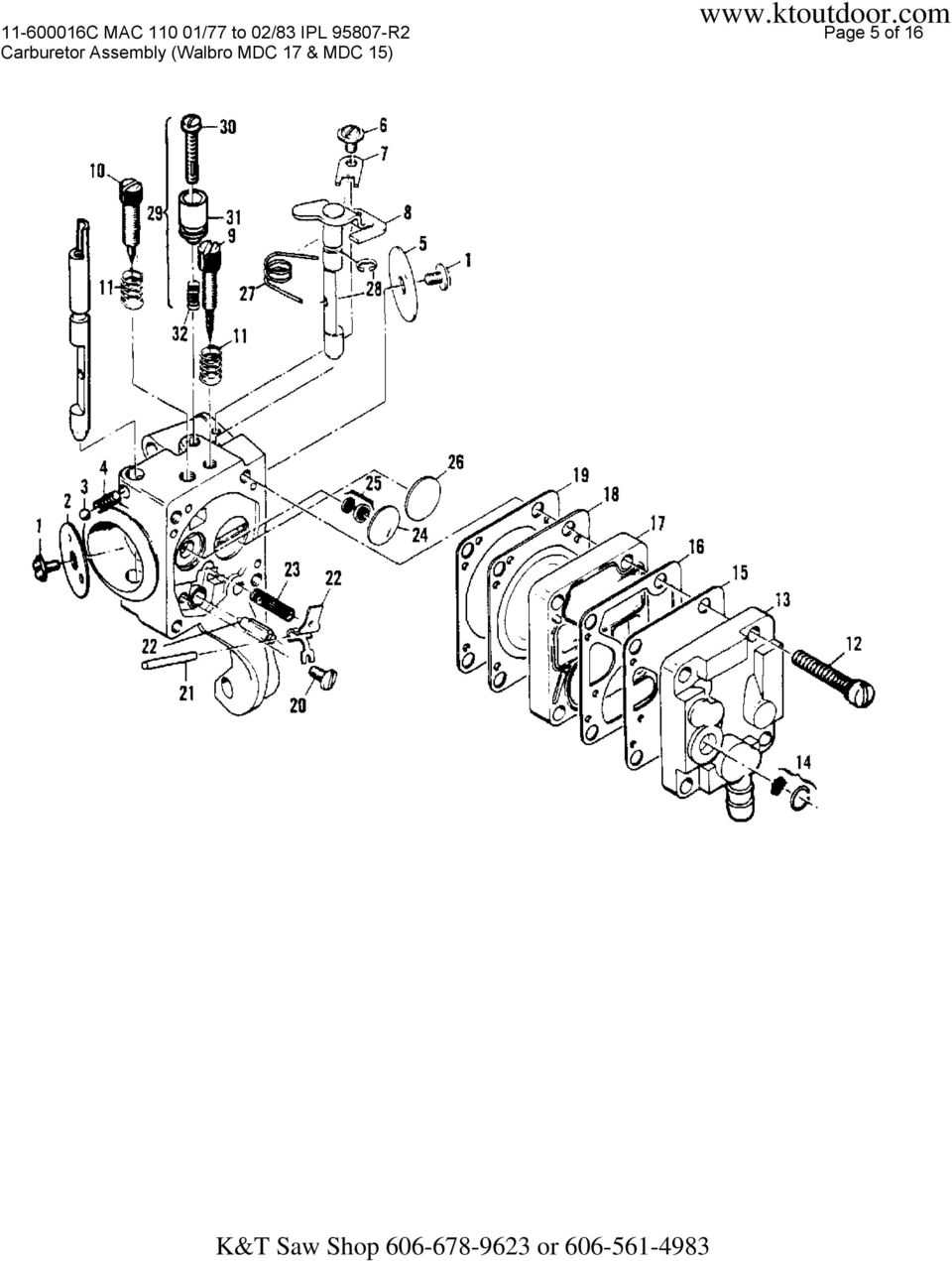 Page 5 of 16 Carburetor