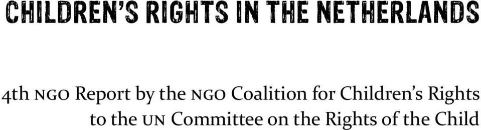 NGO Coalition for Children s Rights