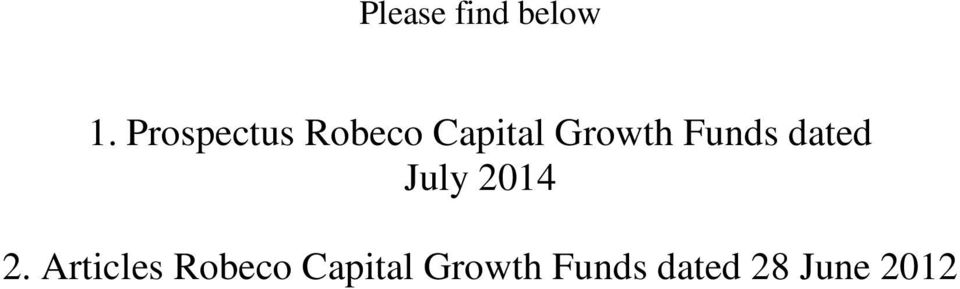 Funds dated July 2014 2.
